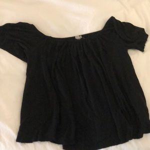 Urban Outfitters Black off the shoulder top